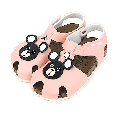 BuyGlasses 可愛熊頭兒童涼鞋-粉