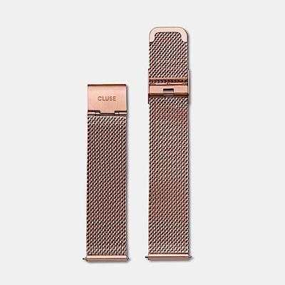 【公司貨】CLUSE La Boheme 18mm 玫瑰金不鏽鋼錶帶(適用於38mm錶款)