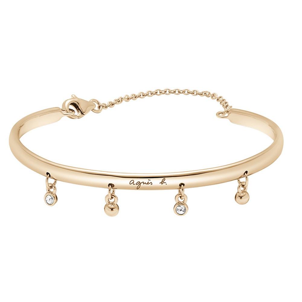 agnes b. 銅復古手環(玫瑰金)