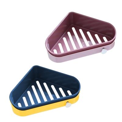 多功能 三角型 扇形 瀝水 置物架 小清新 簡約北歐風 廚房 浴室 免鑽孔 收納盒