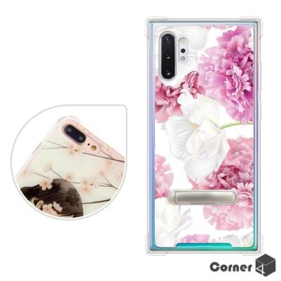 Corner4 Samsung Galaxy Note 10+ 四角防摔立架手機殼-薔薇
