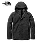 The North Face北面男款黑色防水透氣衝鋒衣 3VSCJK3