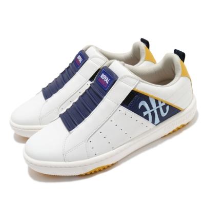 Royal Elastics 休閒鞋 Icon Manhood 2 穿搭 男鞋 基本款 舒適 套腳 簡約 輕便 皮革 白 藍 06501053