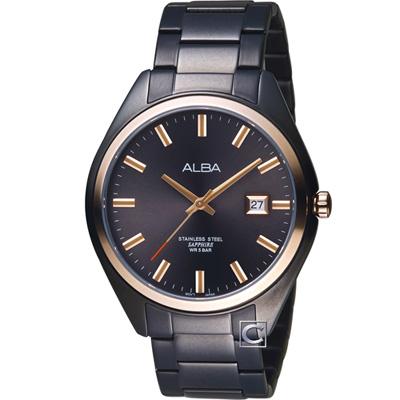 ALBA 漫步都會時尚腕錶(AS9F82X1)黑/42mm