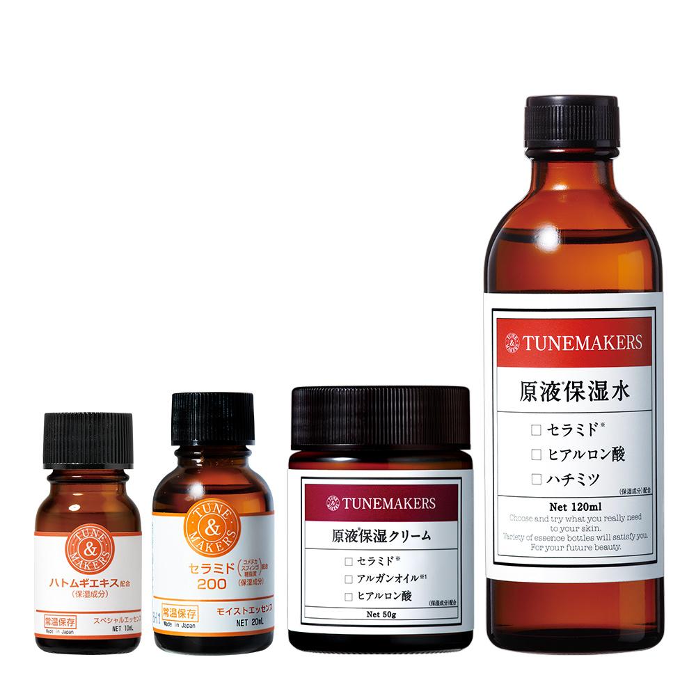 TUNEMAKERS 潤白逆齡金三角(薏仁10ML+保濕水+神經醯胺200+乳霜) @ Y!購物
