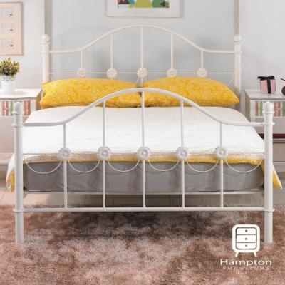 漢妮Hampton克萊拉系列純白5尺鐵床架-160*202*115.5 cm