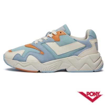 【PONY】MODERN 2系列-玩轉撞色潮流運動鞋 老爹鞋 球鞋 女款 粉藍