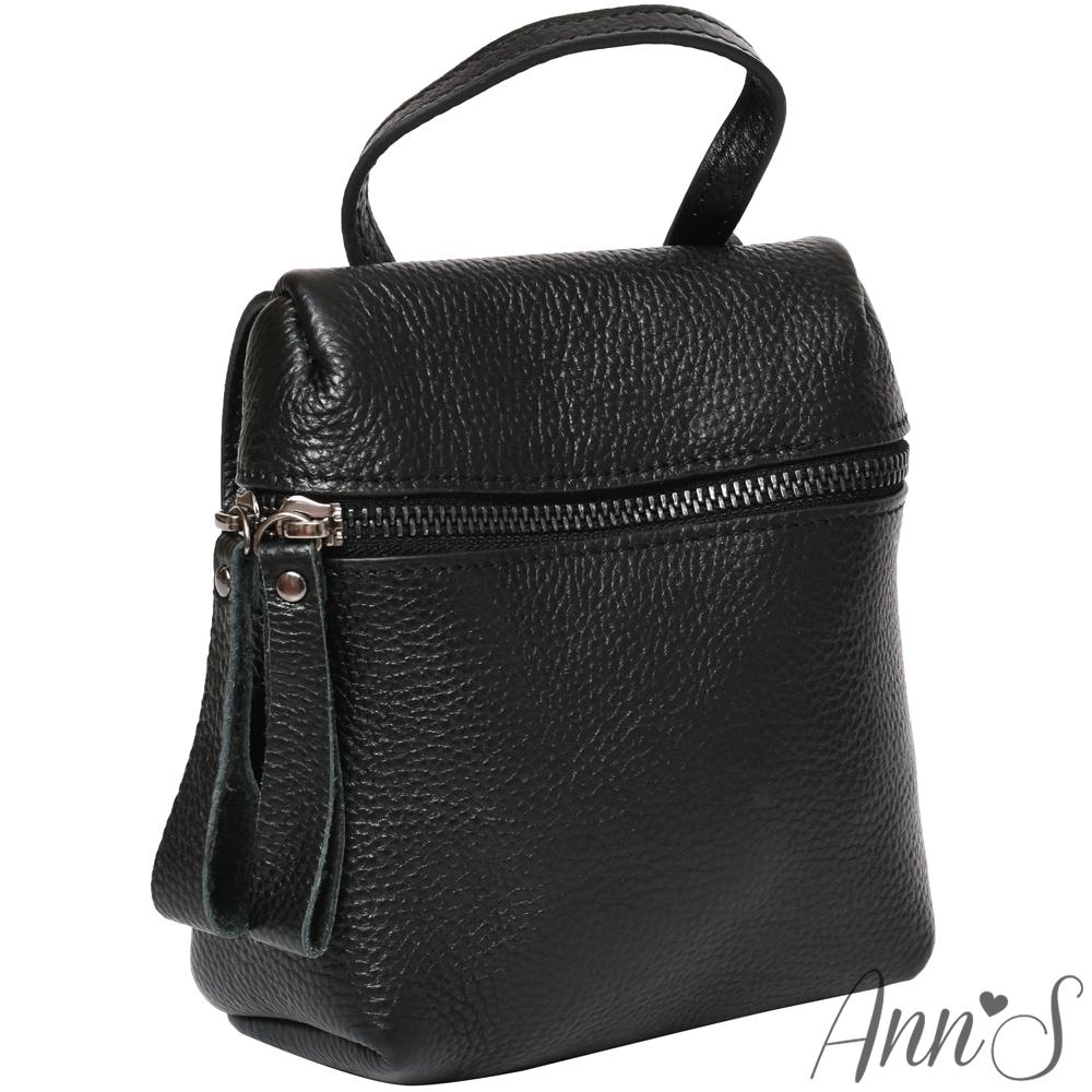 Ann'S出國推薦-真皮2way訂製隨身小包-黑