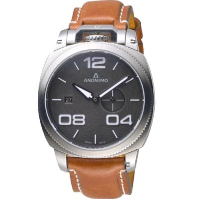 Anonimo Militare 義式軍風機械腕錶-隕石灰/43.4mm