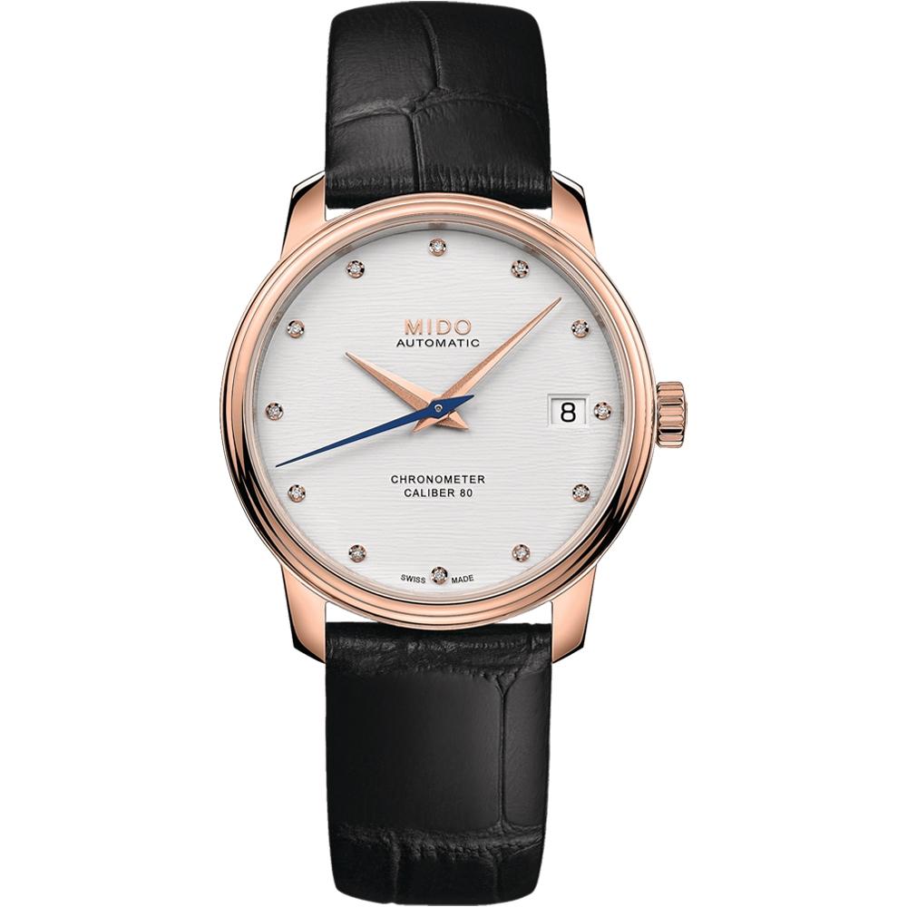 MIDO美度 Baroncelli永恆系列矽游絲天文台機械女錶(M0272083603600)-34mm