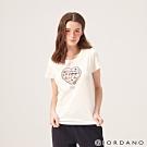 GIORDANO 女裝MUSIC系列印花短袖T恤-71 皎雪