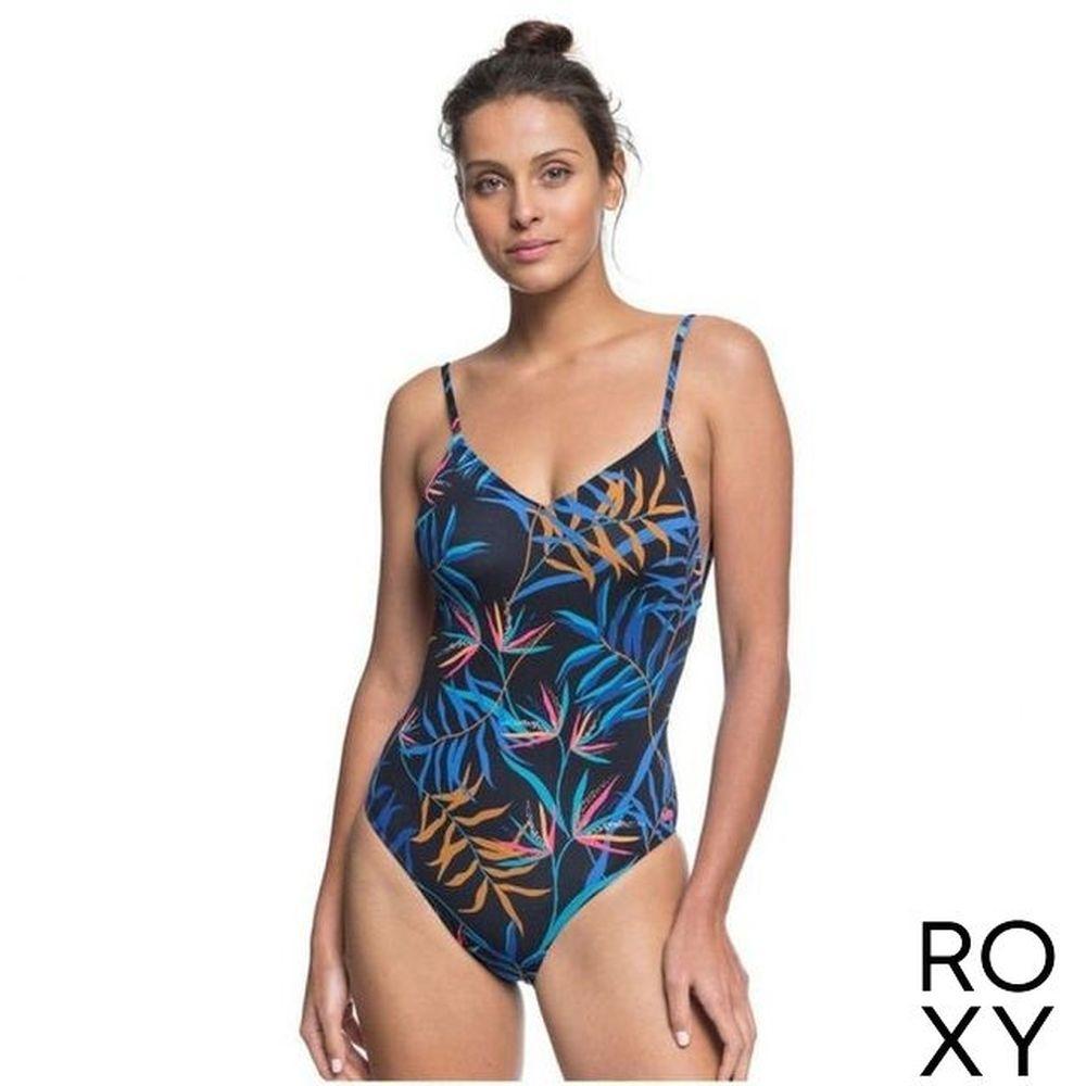 【ROXY】LAHAINA BAY BASIC ONE PIECE 一件式泳裝 黑色