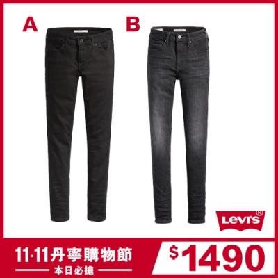 [時時樂限定](結帳再折50) Levis 女款 711中腰緊身 / 721高腰緊身窄管牛仔褲 均一價1490
