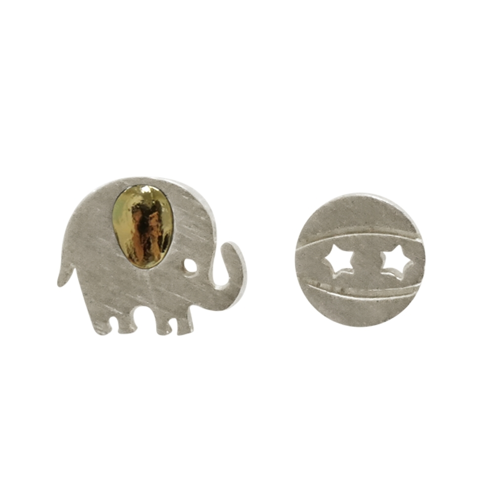 Prisme 美國時尚飾品 魅力大象造型 銀色耳環