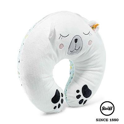 STEIFF德國金耳釦泰迪熊 多功能U型枕 北極熊 (寢具枕類)