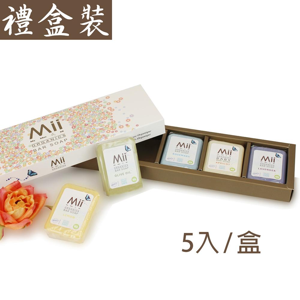 愛的世界 Mii Organics 法國寶寶香皂禮盒100gx5入-法國製-