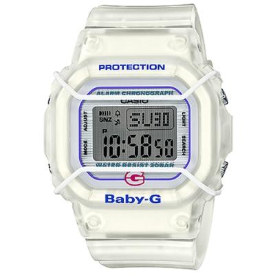 BABY-G 復刻初始設計風格方形防撞電子腕錶-(BGD-525-7)/44.7mm