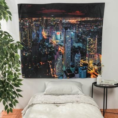 樂嫚妮 裝飾掛毯/掛布/門簾/桌巾-城市夜景 150X130cm