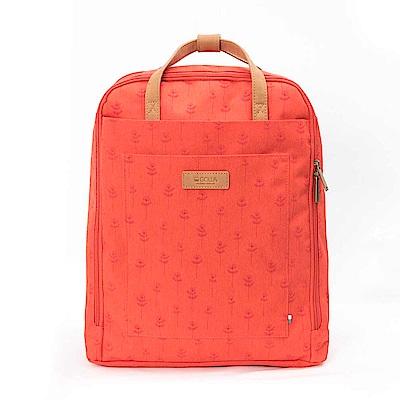 GOLLA後背包 印花莓果紅