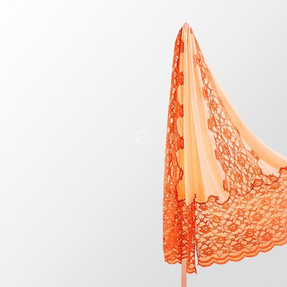 【F.M&Carol】維多麗系列-100%SILK純絲綢絲巾(愛馬士橘)