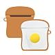 AirPods 1/2 代通用 雞蛋吐司 可愛造型 藍牙 耳機 矽膠 保護套 保護殼-雞蛋吐司*1 product thumbnail 1