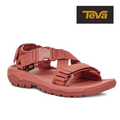 【TEVA】原廠貨 女 Hurricane Verge 交叉織帶快扣運動涼鞋/雨鞋/水鞋(磚紅色-TV1121535ARGN)
