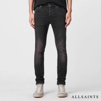 ALLSAINTS CIGARETTEE 特殊彈力素面棉質緊身牛仔褲-黑