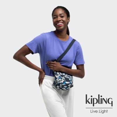 Kipling 清新手繪碎花大開口簡約肩背包-SONJA MINI