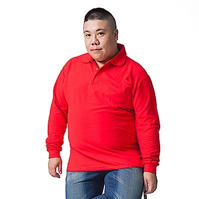 男人幫 P5000網眼純棉高磅數素色POLO衫