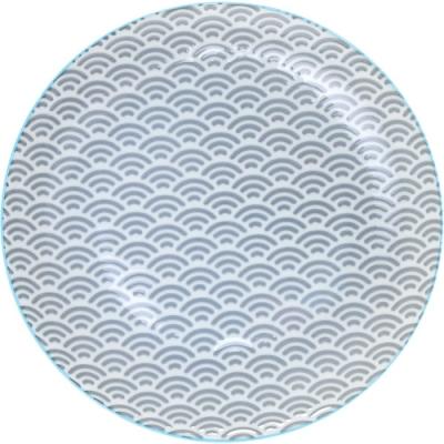 《Tokyo Design》圖騰淺餐盤(藍20.5cm)