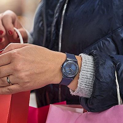 Swatch Gent 原創系列手錶 SIDERAL BLUE 夜藍星空-34mm
