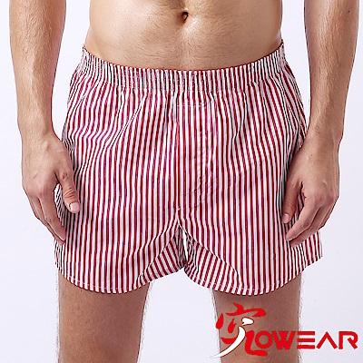 究jowear 純棉男平口褲 紅白條紋