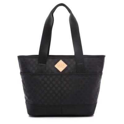 ELLE Active 波卡圓點系列-托特包/購物袋/肩背包-黑色