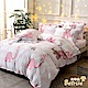 Betrise粉紅象園  特大-環保印染抗抗菌天絲三件式枕套床包組 product thumbnail 1