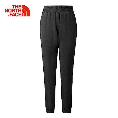 The North Face北面女款黑色防潑水舒適束口褲  3RFSKS7