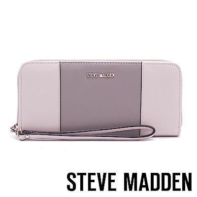 STEVE MADDEN-SM-BPIPPAWC 素面百搭長夾-灰色