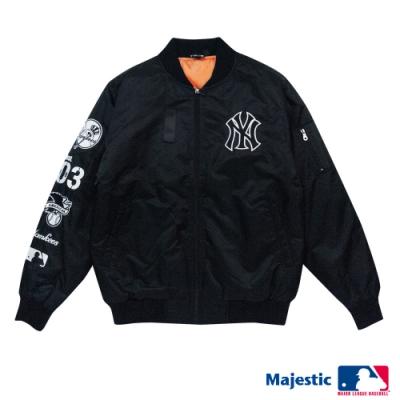 MLB-紐約洋基隊街頭MA-1飛行外套-黑 (男)