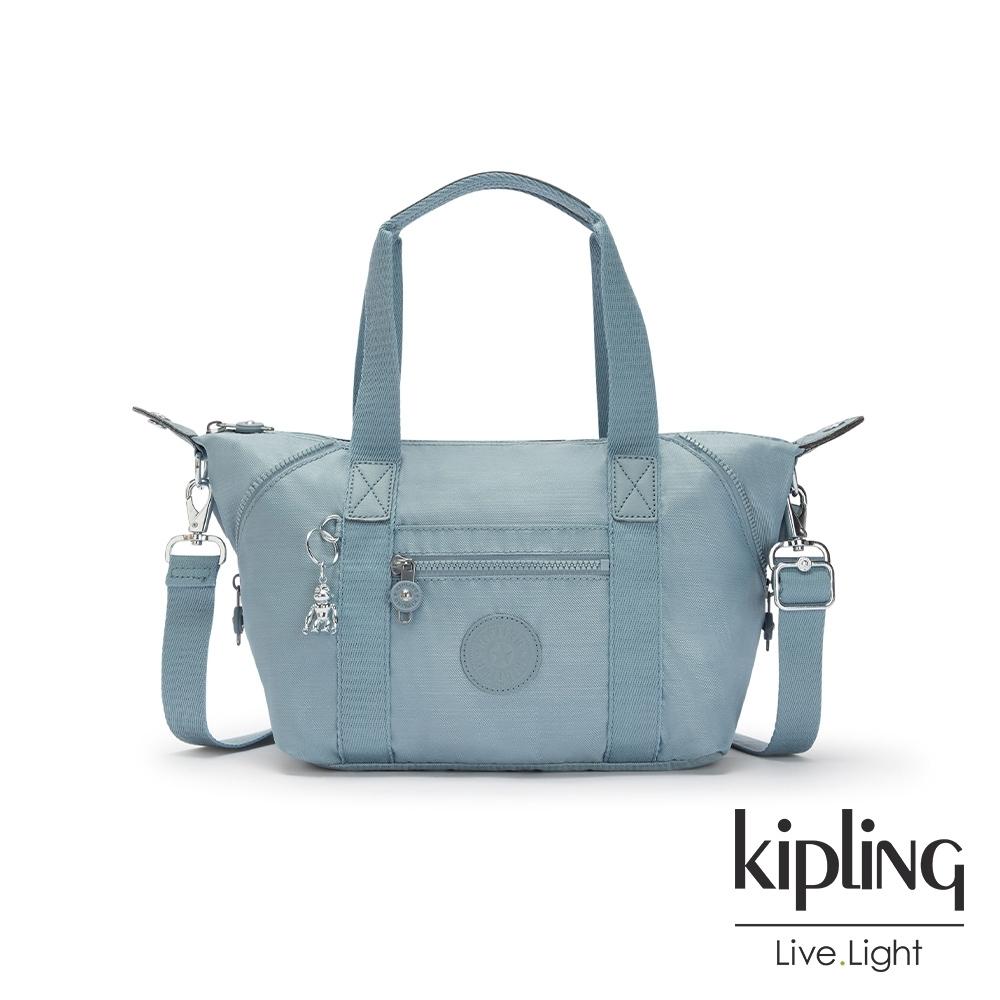 Kipling 寧靜海洋藍手提側背包-ART MINI