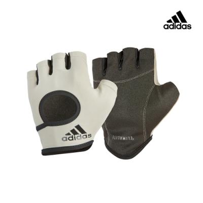 【Adidas愛迪達】女用短指彈性止滑手套(簡約灰)