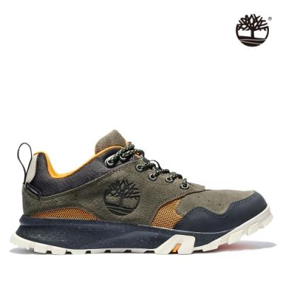Timberland 男款咖啡色Garrison Trail絨面革低筒健行靴|A23F5