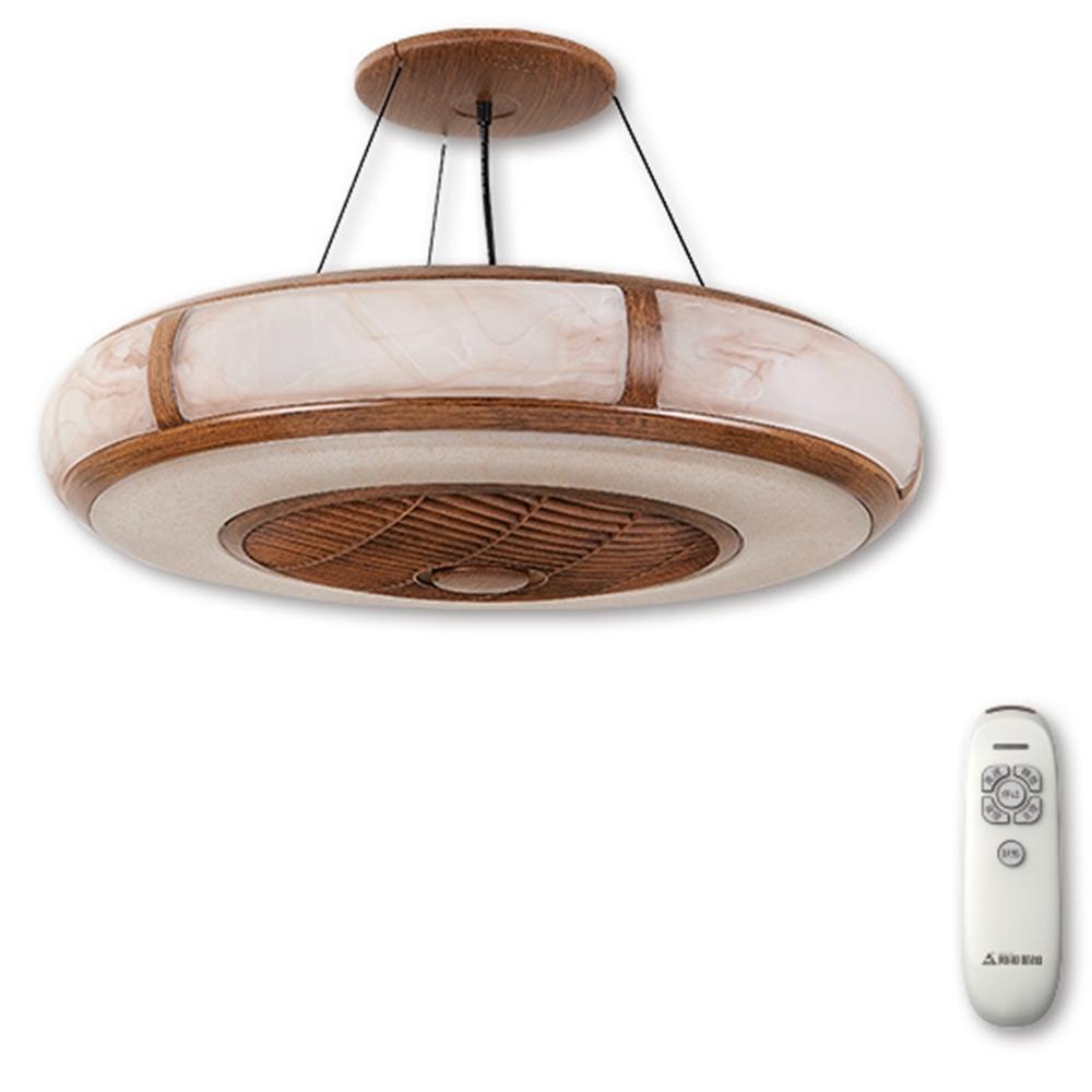阿拉斯加 AURA精品吊扇玻璃款(遙控)-木紋色
