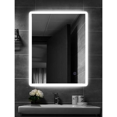 H&R安室家 波爾多 智能LED發光觸控方型燈鏡 ZA0195(掛鏡/浴鏡/化妝鏡/鏡子)