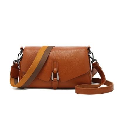 米蘭精品 側背包真皮肩背包-質感純色百搭牛皮女包包母親節生日禮物73yp1