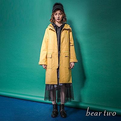 beartwo 網路限定-大口袋連帽長風衣(2色)