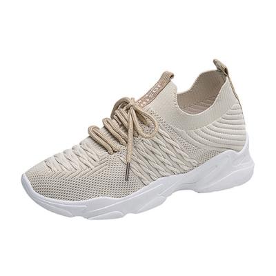 韓國KW美鞋館-極限運動輕量跑步鞋-米黃色