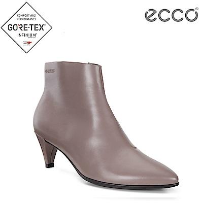 ECCO SHAPE 45 POINTY SLEEK 優雅尖頭拉鍊踝靴 女-藕粉