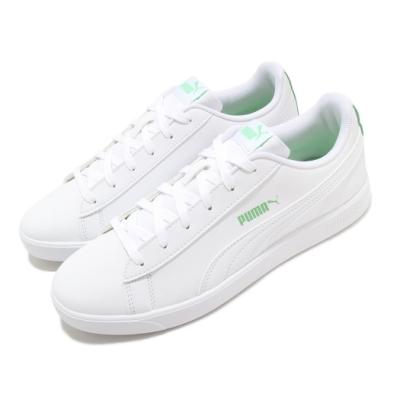 Puma 休閒鞋 UP 基本款 運動 女鞋 舒適 簡約 皮革 質感 球鞋 穿搭 白 綠 37303405