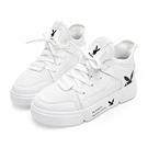 PLAYBOY 率性網布拼接休閒鞋-白 Y527811