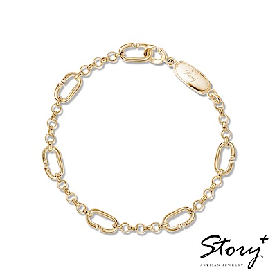 STORY故事銀飾-Charm扣扣系列-基礎手鍊(黃K金)