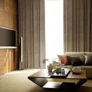芸佳 (超值2入)北歐精緻典雅柔紗金紋玫瑰窗簾 W160XH150